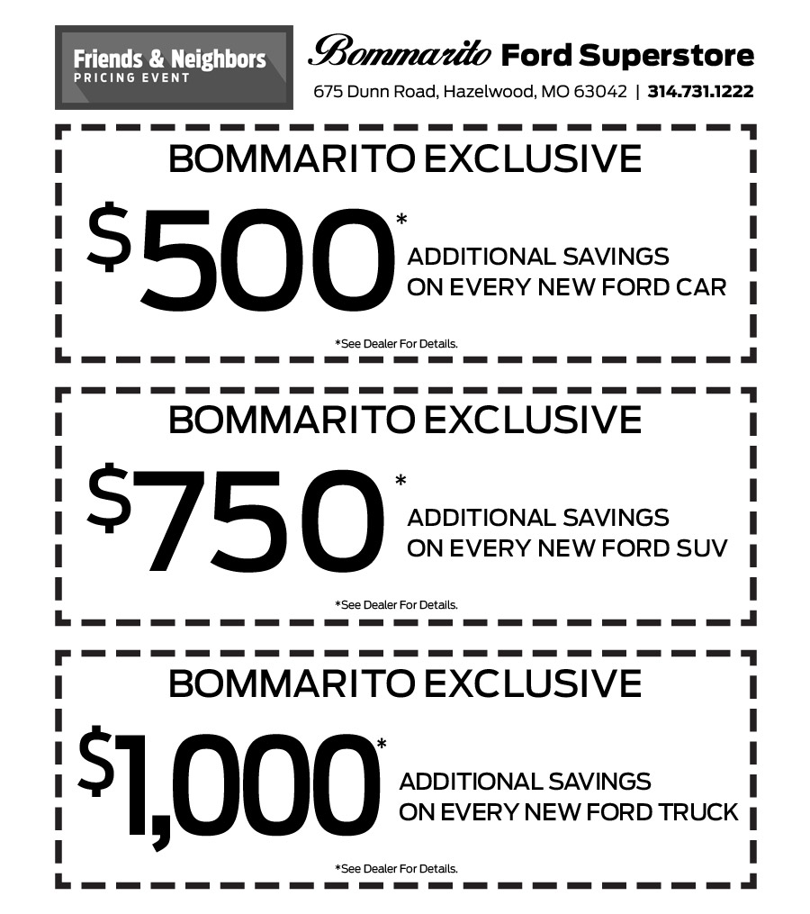 Bommarito ford coupons
