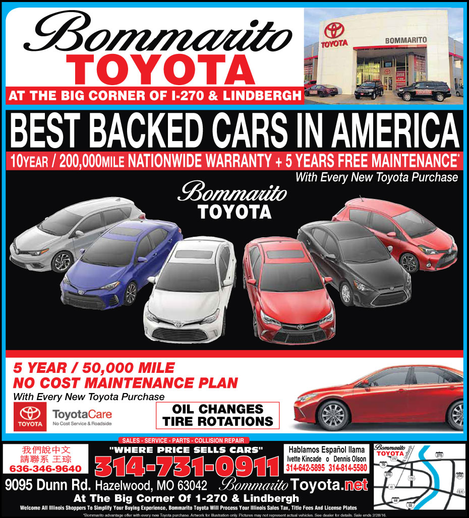 Current bommarito toyota newspaper ad